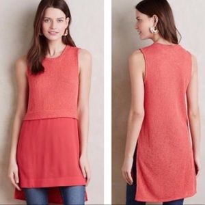 Anthropologie Ro & De Coralee Coral Knit Tunic M